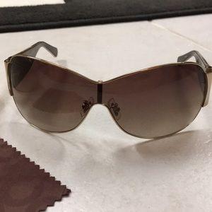 New in Case Coach Oversized  Sunglasses Kendra